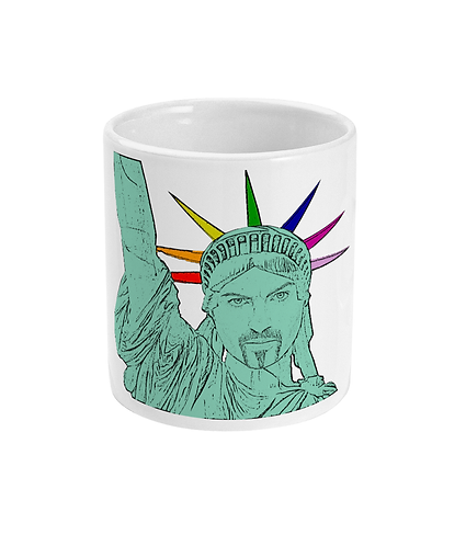 George Michael as The Statue of Liberty! Funny, Gay, Mug
