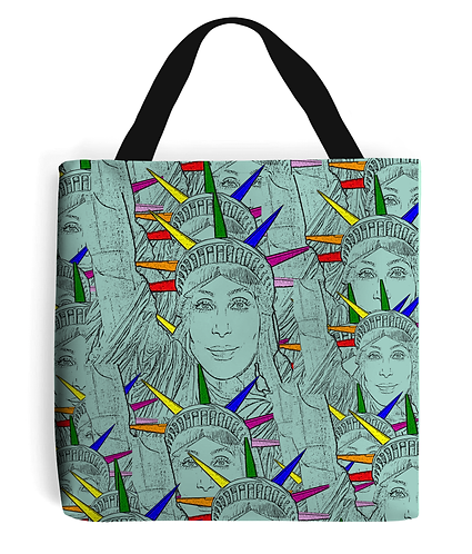 Gay Tote Bag! Cher morphed into The Statue of Liberty!