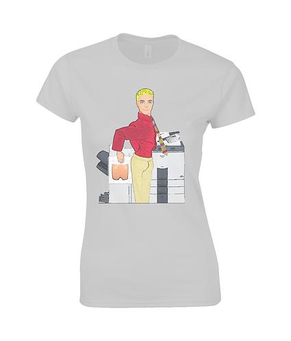 Fun At The Photocopier Ladies T-Shirt
