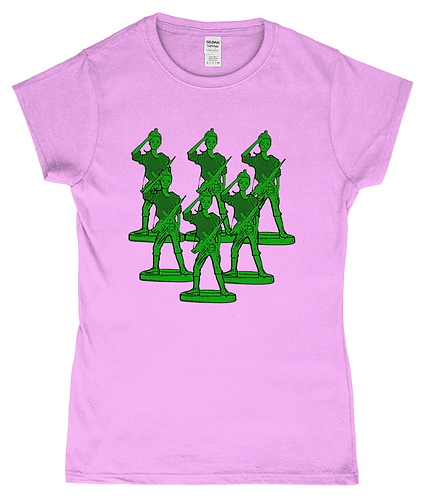 Girl Toy Soldiers! Funny Ladies T-Shirt