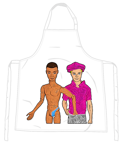 Hand in Pants Apron