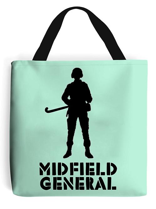 Midfield General Field Hockey Tote Bag