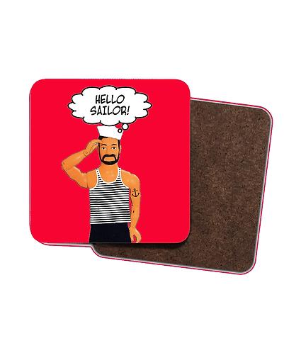 4 x Funny, Hello Sailor Drinks Coasters!