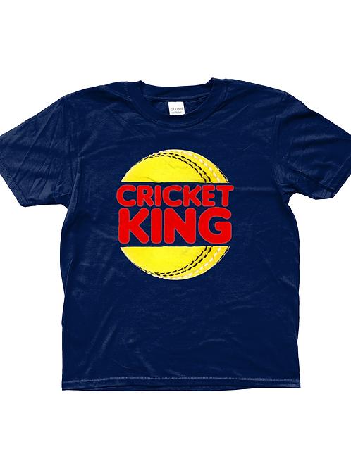 Cricket King! Funny, Kids Cricket T-Shirt