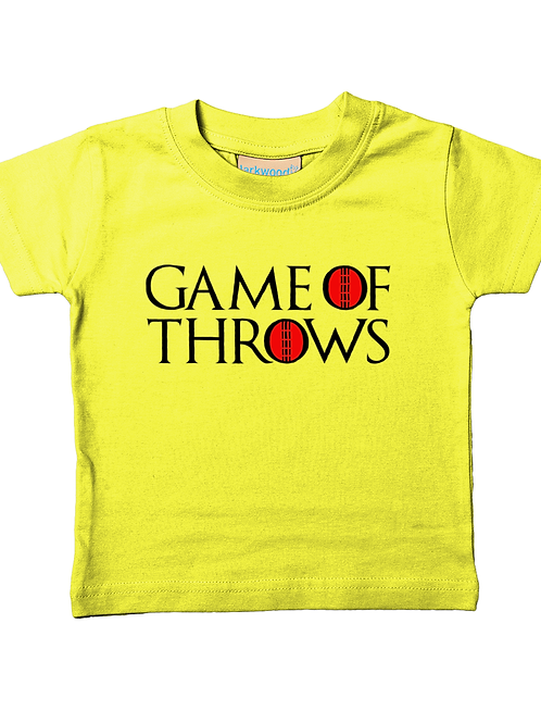 Game of Throws! Cool, Funny, Babies Cricket T-Shirt