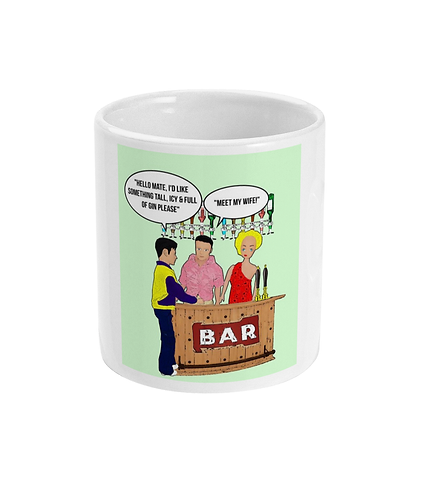 Rude, Funny, Hilarious Mug! Something Tall, Icy & Full of Gin! Meet My Wife!