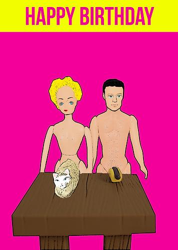 Rude, Funny, Pussy & A Hot Dog Happy Birthday Card