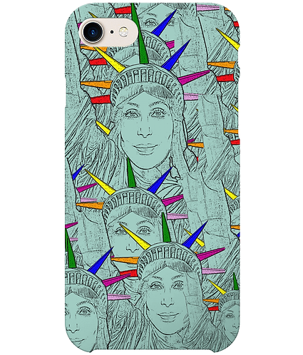 Funny, Gay, i-Phone Case! Cher morphed into The Statue of Liberty!