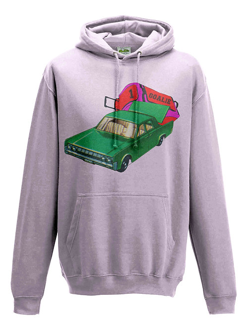 Hockey Goalie Car Kids Field Hockey Hoodie