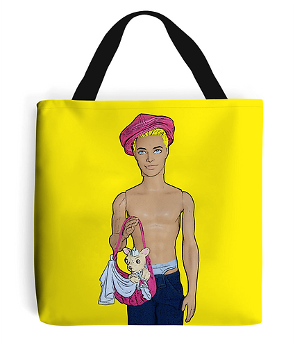 Cutie with a Chihuahua Tote Bag