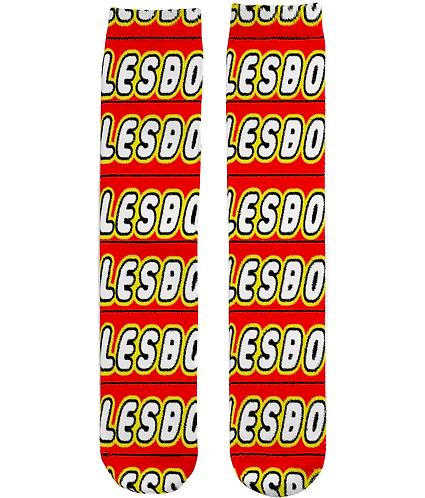 Lesbo! Funny, Lesbian Tube Socks