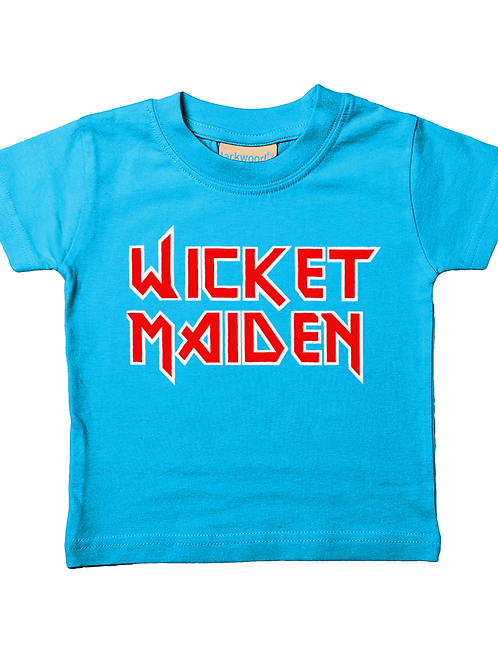 Wicket Maiden! Cool, Funny, Babies Cricket T-Shirt