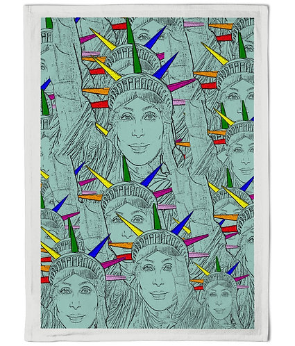 Cher as the Statue of Liberty Tea Towel!