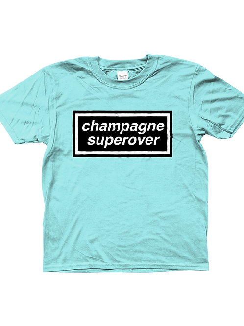 Champagne Super Over! Cool, Kids Cricket T-Shirt