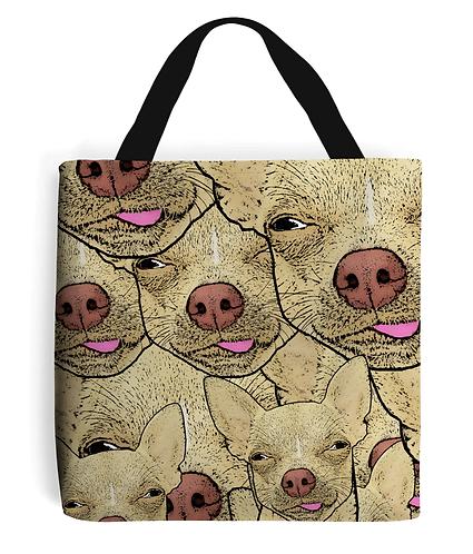 Funny, Chihuahua's Tote Bag