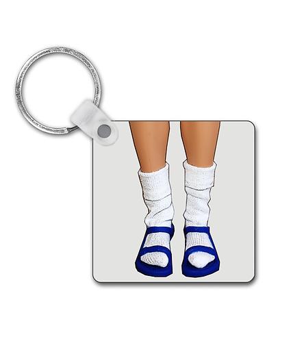 Socks & Sandals! Funny, Pop Art, Keyring