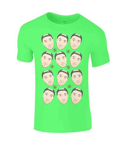 Multiple Hugo Macqueenie Faces T-Shirt