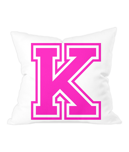 Alphabet Letter Throw Cushion Cover