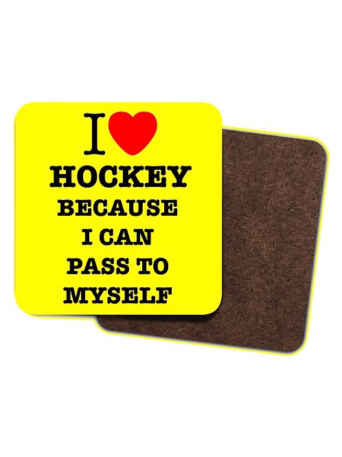 4 x Hockey Self Pass, Funny Field Hockey Drinks Coasters