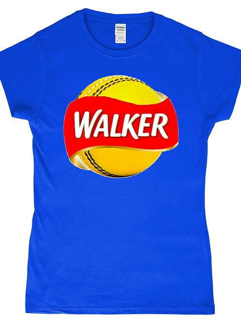 Walker! Funny, Ladies Cricket T-Shirt