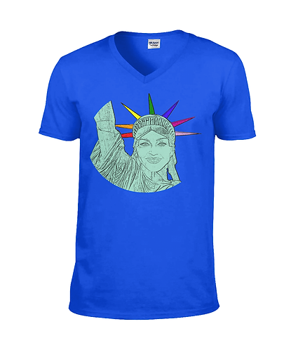 Madge As The Statue of Liberty! V Neck TShirt
