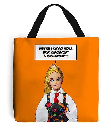Three Kinds of People Tote Bag