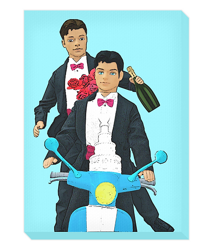 Just Married Canvas