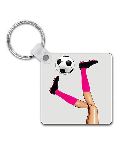 Girls Soccer Skills Keyring