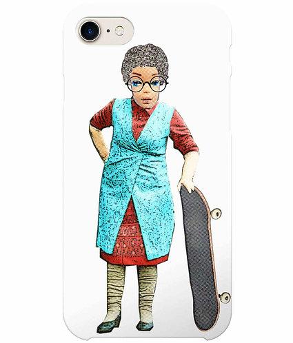Skateboarding Granny, Funny iPhone Case