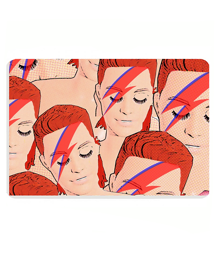 Bowies! Cool Pop Art Pet Food Mat