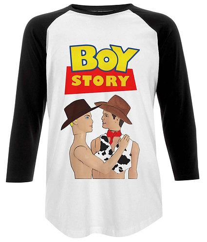 Boy Story! Funny, Gay Baseball Shirt