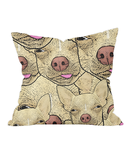 Funny Chihuahua's Throw Cushion Cover