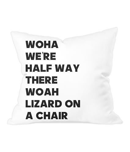 Lizard On A Chair Throw Cushion Cover