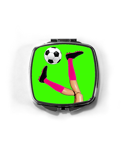 Girls Soccer Skills Compact Mirror