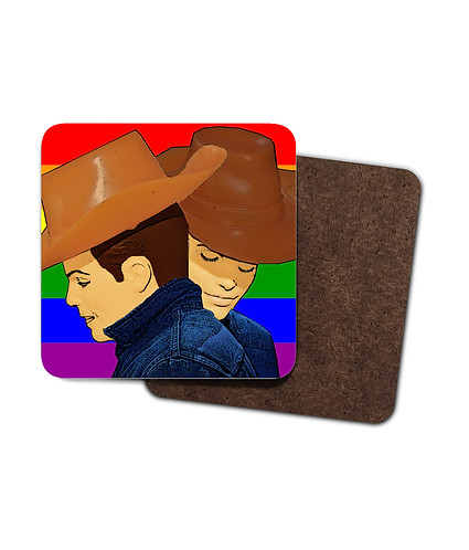 4 x Brokeback Mountain Rainbow Gay Drinks Coasters!