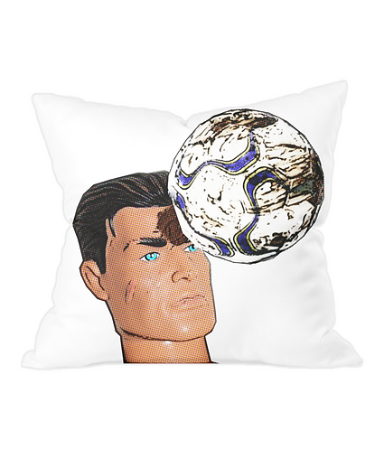Football Header Throw Cushion Cover