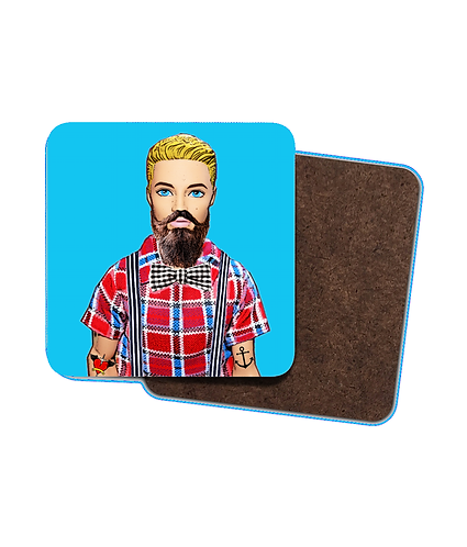 4 x Hipster Drinks Coasters!