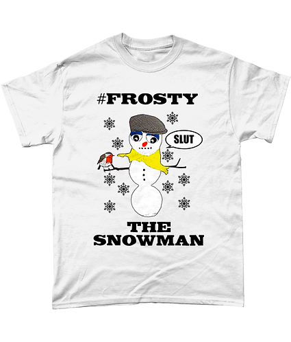 #Frosty The Snowman, Rude, Funny Xmas T-Shirt