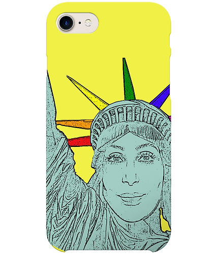 Cher as The Statue of Liberty, Funny, Gay, i-Phone Case
