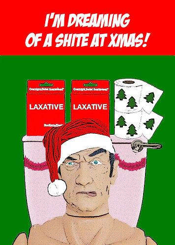 I'm Dreaming of a Shite At Xmas, Rude, Funny Christmas Card