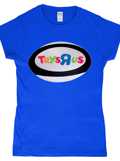 Toys R Us! Funny, Ladies Rugby T-Shirt