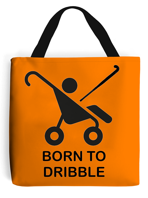Born To Dribble Field Hockey Tote Bag