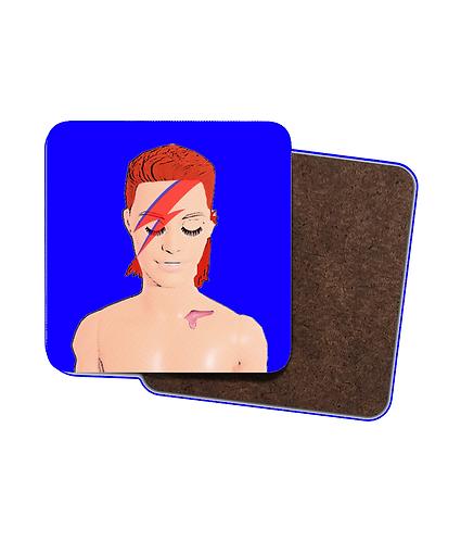 4 x Bowie Pop Art Drinks Coasters