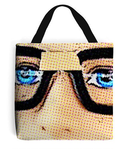 Geek Glasses Pop Art Tote Bag