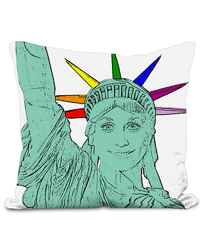 Dolly Parton as The Statue of Liberty! Pop Art, Gay Cushion Cover