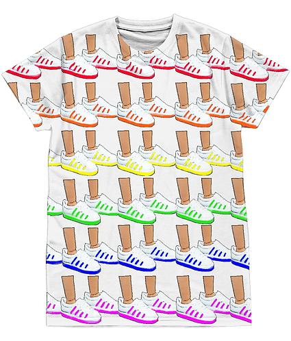 Sneaker Heaven! Funny, Pop Art Sublimation Unisex T-Shirt