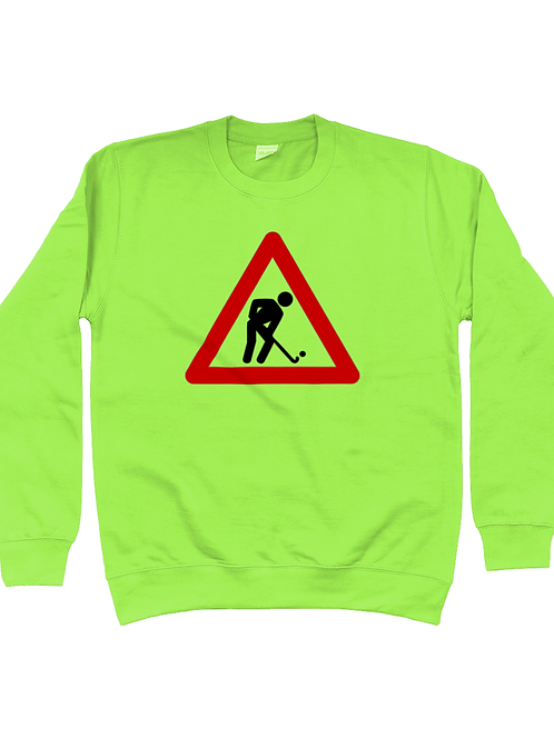 Hockey Player At Work Field Hockey Sweatshirt