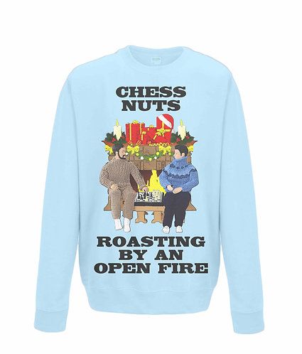 Chess Nuts Roasting By An Open Fire! Funny Christmas Jumper! (black font)