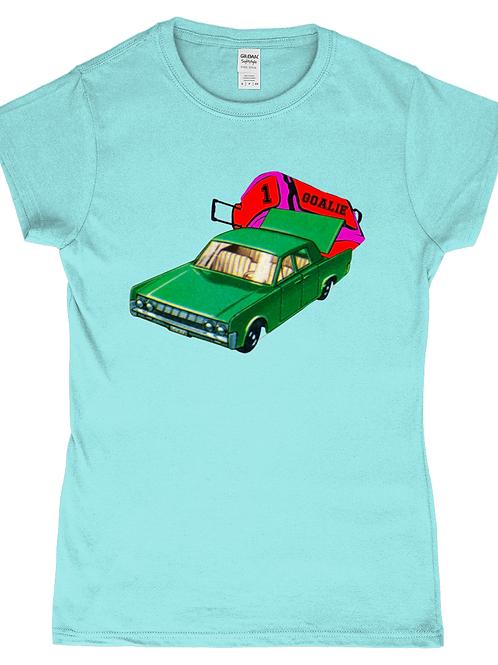 Hockey Goalie Car! Funny, Ladies Field Hockey T-Shirt