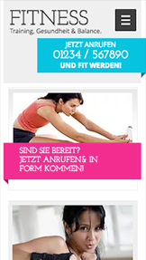 Alle Designvorlagen website templates – Fitness-Studio